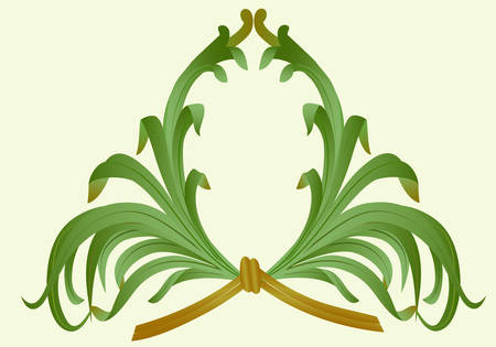 The frame of leaves, perevyazannaya bamboo. Easy to change color, background size. Vector.