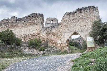 Castle in ruins of Ocio, Basque Country.