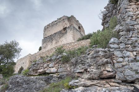 Ocio castle tower in ruins, Basque Country