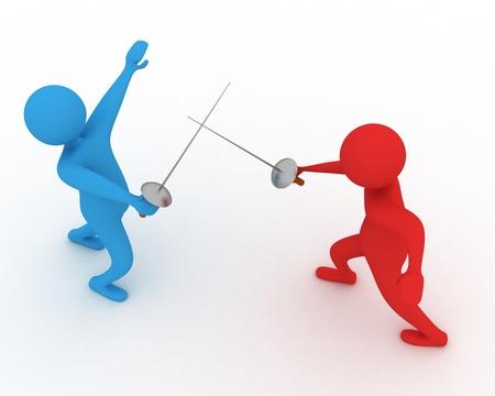 duelling men
