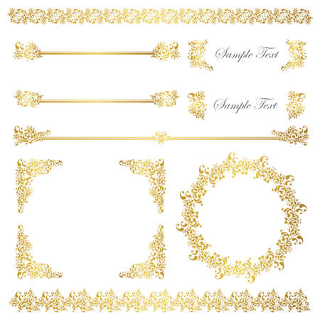 gold frame and line set
