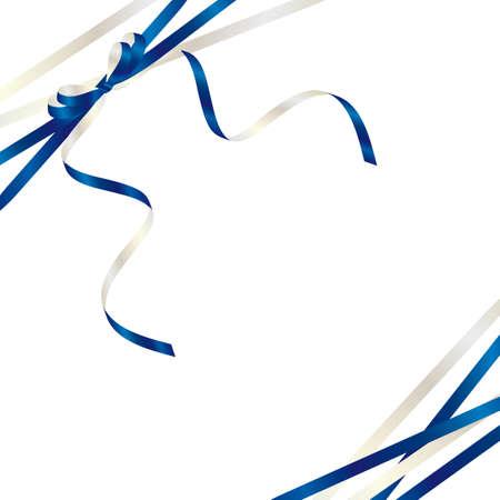 Illustration pour blue ribbon background - image libre de droit