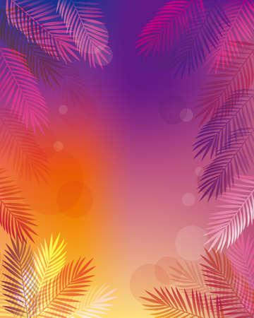 Illustration pour background of Palm leaves - image libre de droit