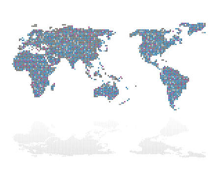 Illustration for Abstract of world map - Royalty Free Image