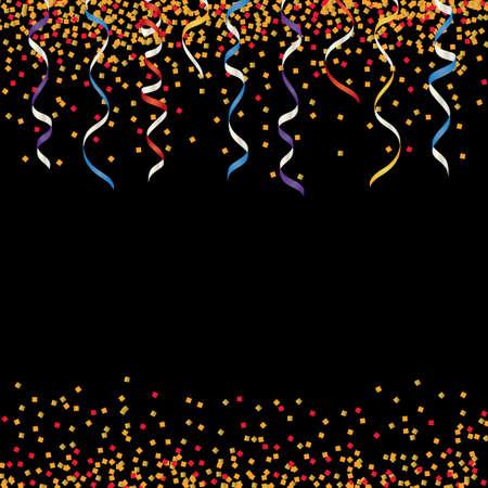 Illustration pour background of colorful glitter and ribbon - image libre de droit