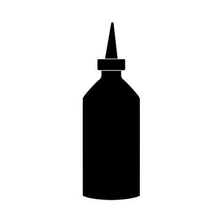 Illustration pour Tube of hair dye. Hairdresser tool simple isoleted vector icon - image libre de droit