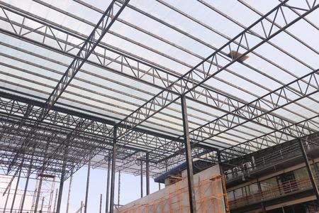 Photo pour Metal steel frame buildings construction design - image libre de droit