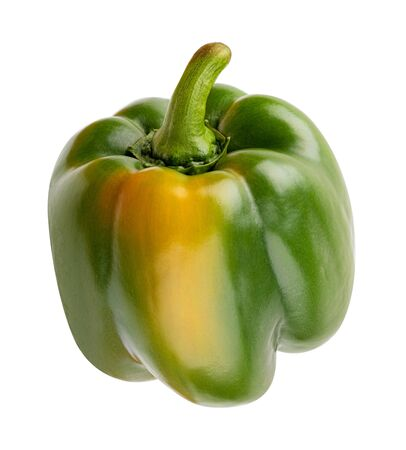 Photo for Green pepper isolated on white background - Royalty Free Image