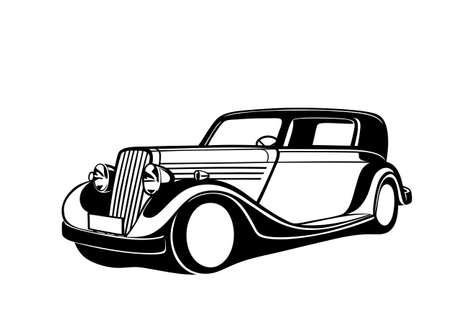 Ilustración de Black classic Car - Imagen libre de derechos