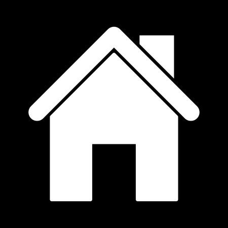 White Home icon. White on the black
