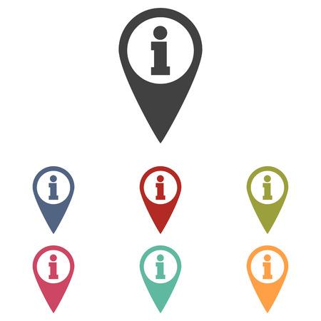 Illustration for Map pointer icons set isolated on white background - Royalty Free Image