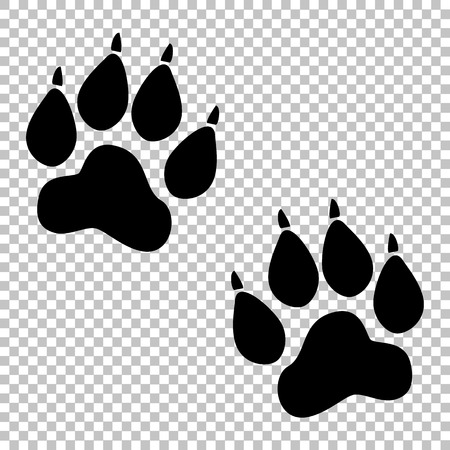 Illustration for Animal Tracks sign. Flat style icon on transparent background - Royalty Free Image