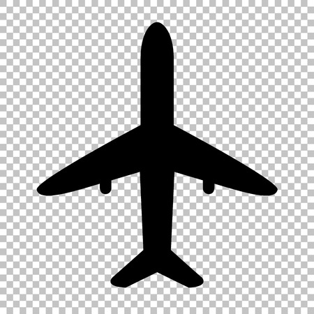 Illustration pour Airplane sign. Flat style icon on transparent background - image libre de droit