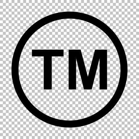 Trade mark sign. Flat style icon on transparent background