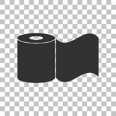 Toilet Paper Sign Dark Gray Icon On Transparent Background