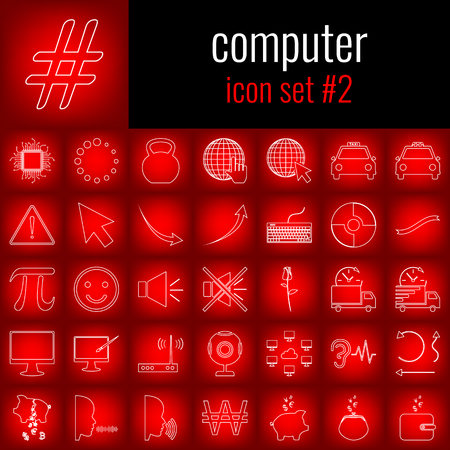 Set of computer icons.のイラスト素材