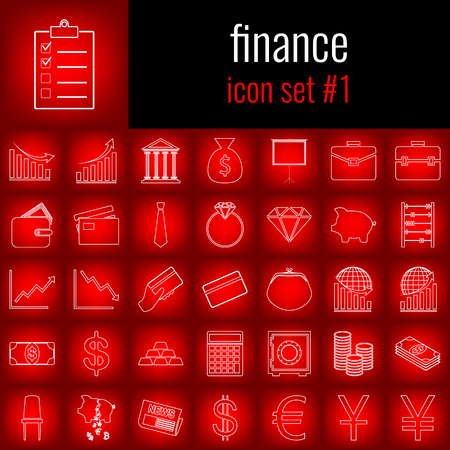 Set of finance icons.