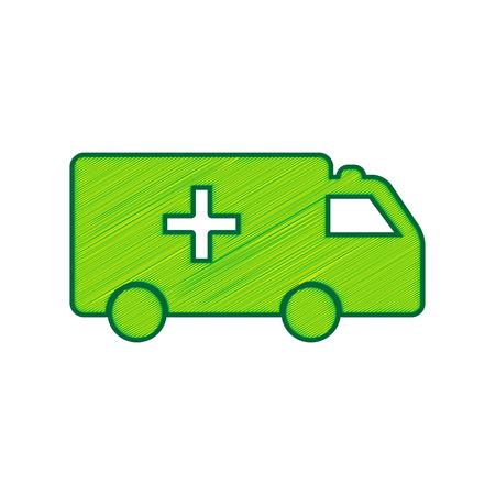 Ambulance sign illustration.