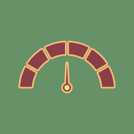 Meter gauge sign icon.