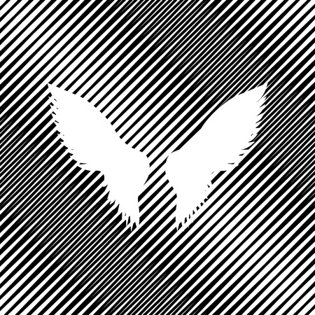 Wings sign illustration. Vector Icon.