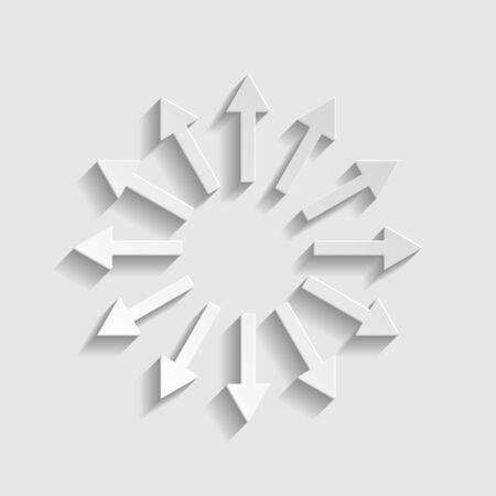 Illustration pour Arrows sign. Paper style icon. - image libre de droit