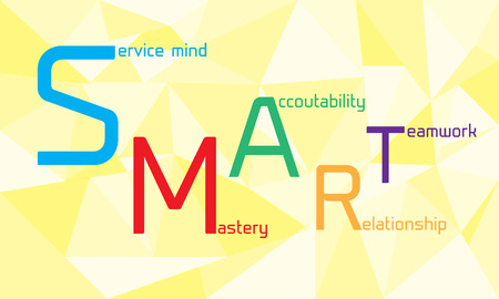 Smart word with geometric background
