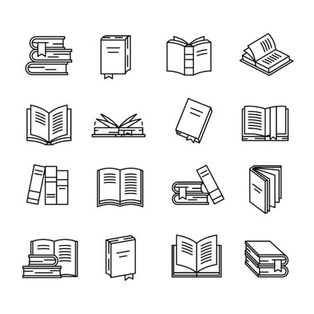 Illustration for Book icon set - Royalty Free Image