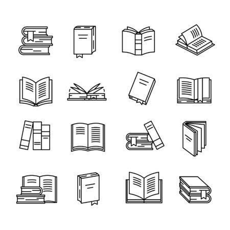 Illustration pour Book icon set - image libre de droit