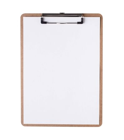 Photo for Clipboard with blank paper - Royalty Free Image