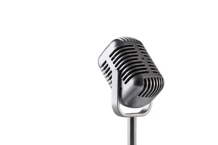 Foto de Retro microphone isolated on white background - Imagen libre de derechos