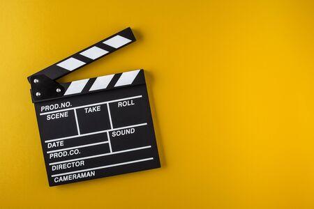 Photo pour Movie clapper board - image libre de droit