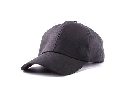 Photo pour Black cap isolated on white background - image libre de droit