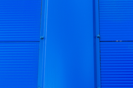 Photo for Made of blue sandwich panels. Visible structure of the seam between the panels. - Royalty Free Image