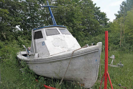 an old motorboat