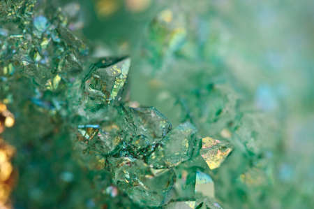 Foto de Druse green crystals Agate SiO2 silicon dioxide. Macro. Fantastic Beautiful Background for successful Your project - Imagen libre de derechos