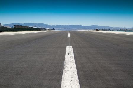 shot of the runway at Gibraltar Airport