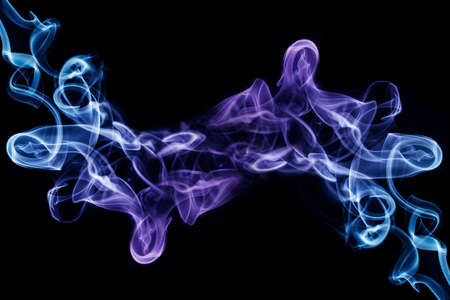 Photo pour Abstract multicolored smooth and soft smoke effect on a black background - image libre de droit