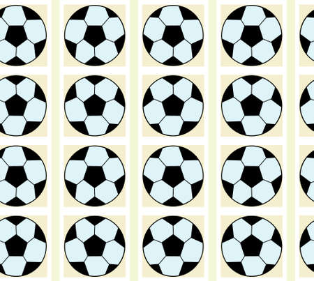 Seamless pattern with a soccer ball in a delicate colors.