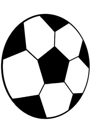 Pattern with a soccer.