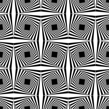 Seamless geometric pattern with optical illusion