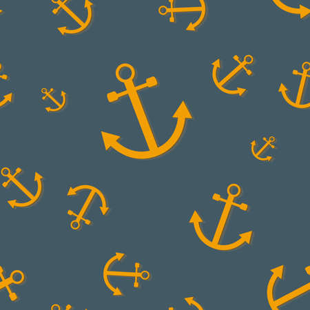 Seamless pattern with anchors (nautical theme)