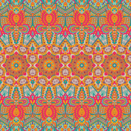 Illustration pour Abstract festive colorful grunge vector ethnic tribal pattern - image libre de droit