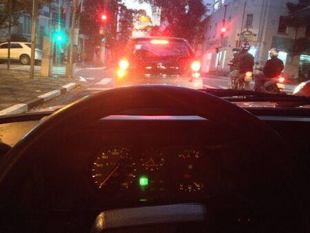 Traffic-lights in So Paulo - SP - Brazil