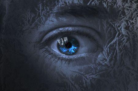 Eye among trees