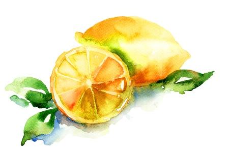Photo pour Watercolor illustration of Lemon  - image libre de droit