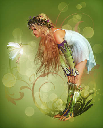 a little girl has found a fairy