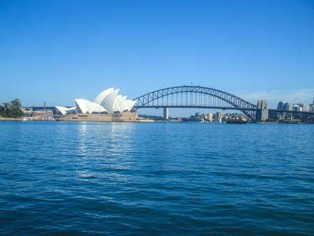 Photo for Sydney Opera House Sydney Harbour Bridge road bridge city Australia Sydney beautiful curve house people Habitat 2 - Royalty Free Image