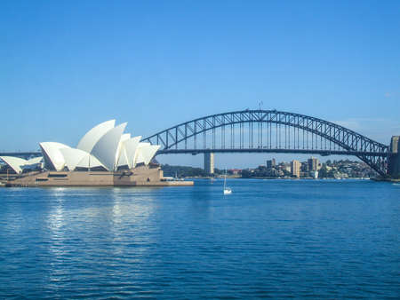 Sydney Opera House Sydney Harbour Bridge road bridge city Australia Sydney beautiful curve house people Habitat 4
