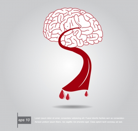 brain and blood vector icon