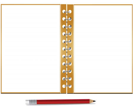 illustration of notepad and pencil